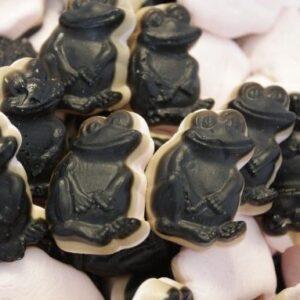 crazy frog med hindbær og lakridssmag, slik